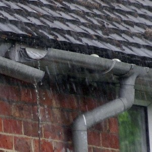 Collapsed Leaking Roof Gutter